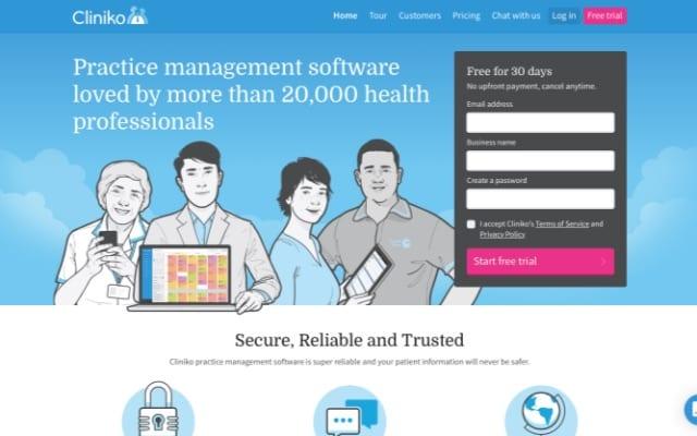 Cliniko - Main Page