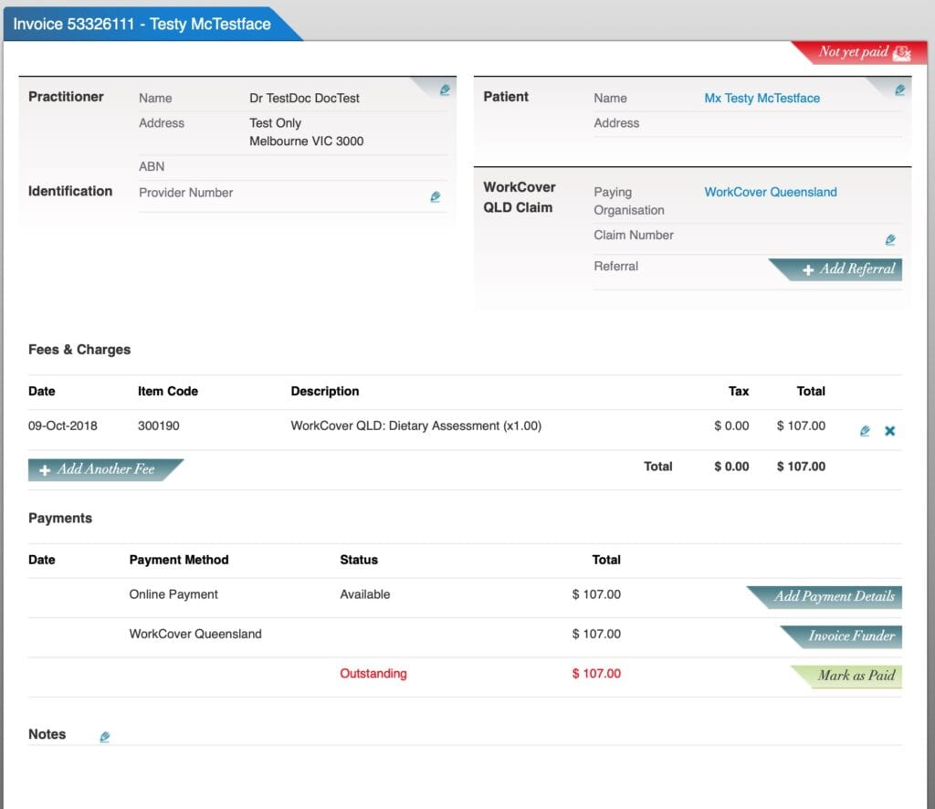 Healthkit - Invoice